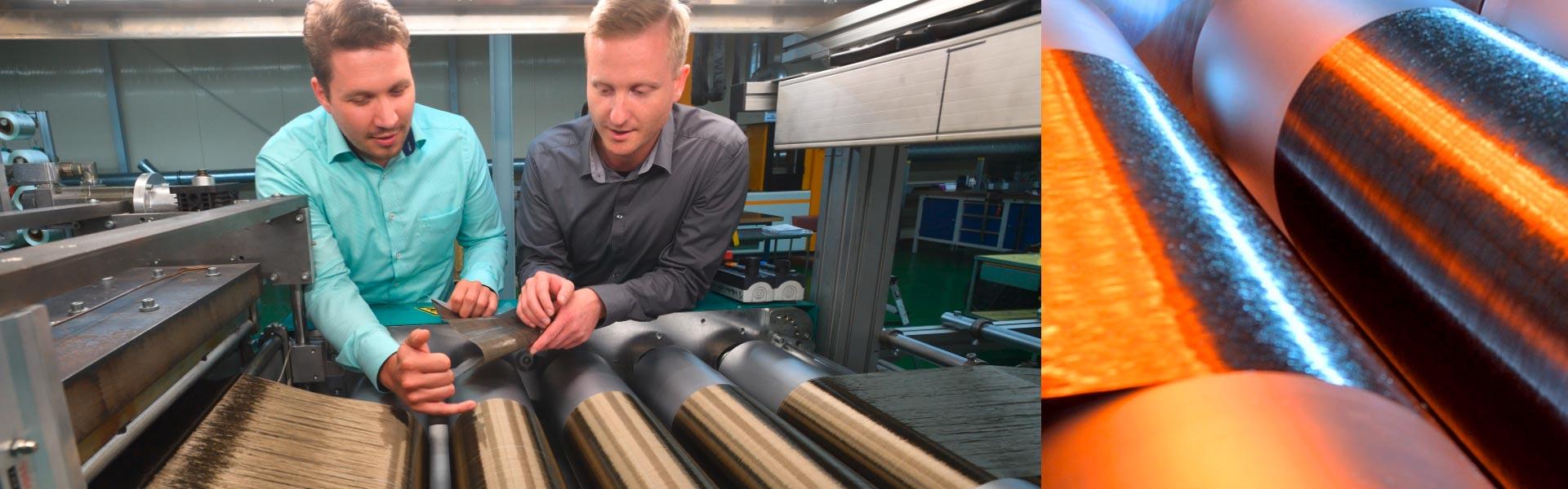 Faserfolienanlage zur Herstellung von endlosfaserverstärkten thermoplastischen Prepregsn