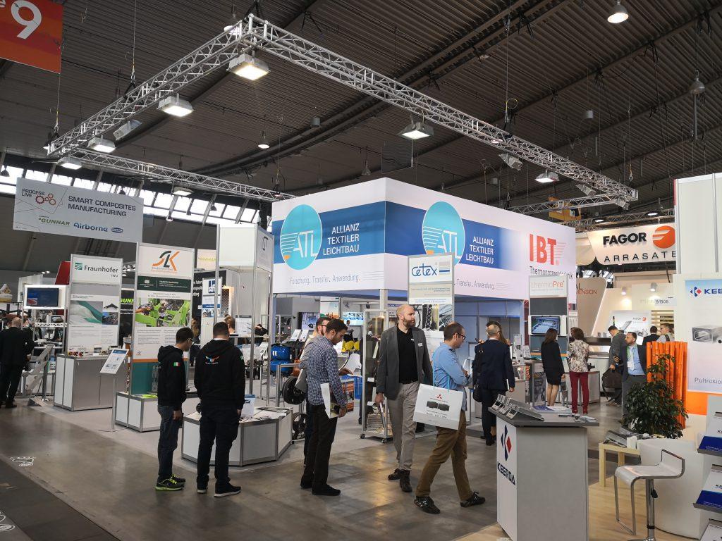 Der Messestand der ATL zur Composite Europe 2018 in Stuttgart